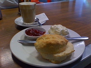 Scone with tea