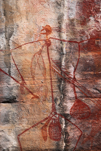 Rock art at Ubirr,