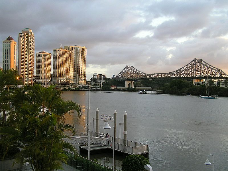 Brisbane at                       sunrise