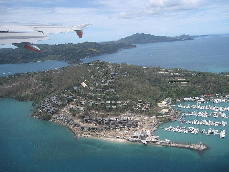 Hamilton Island, Qld from the air