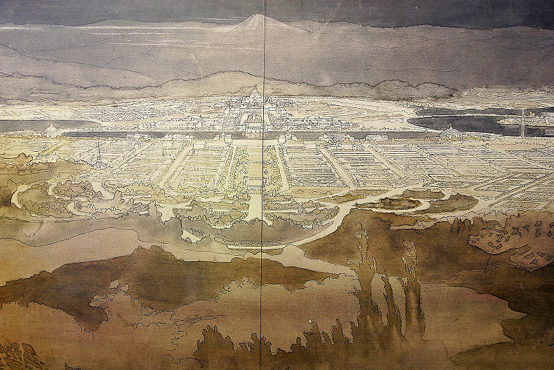 Marion Mahoney's sketch of Canberra