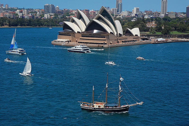 Sydney Opera House with Tall Ship