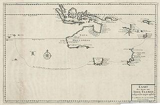 Abel Tasman's route 1724