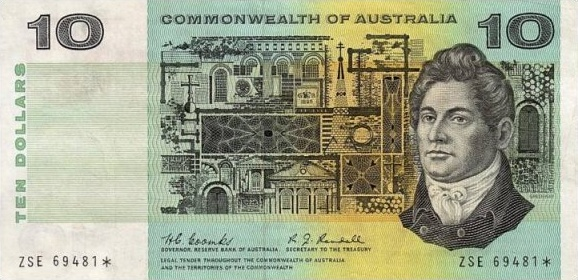 Ten dollar note