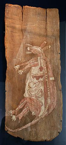Kangaroo bark painting
