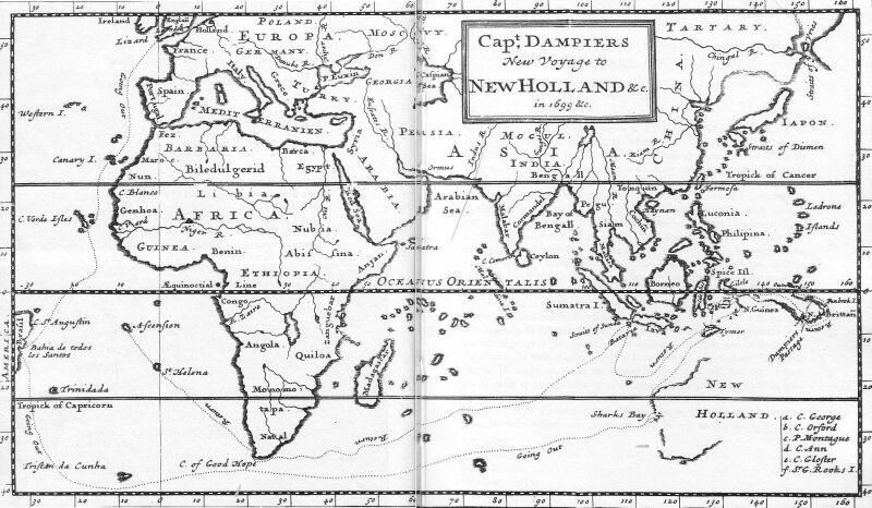 Dampier's map