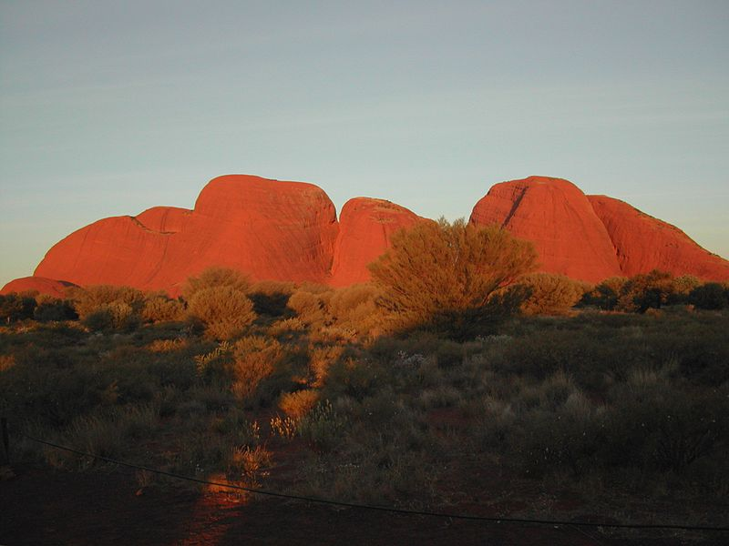 Kata Tjuta in evening