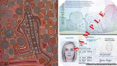 Australian passport with Uta-Uta