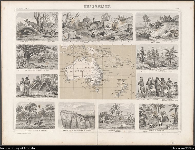 Brockhaus map of Australia